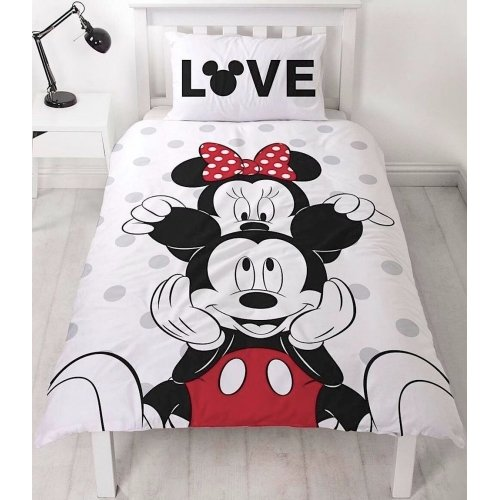 Disney Mickey & Minnie Mouse Beyond Duvet Cover Set Single