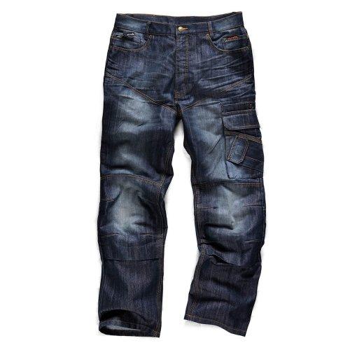 Scruffs Trade Denim Industrial Work Jeans (Sizes 30-38in Waist) Men's Trousers