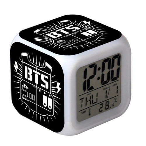 Colorful Mood Glowing Small Alarm Clock