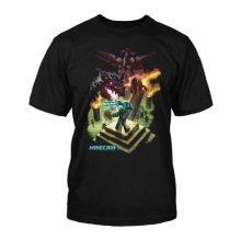 Minecraft T-shirt  | ENDERDRAGON LOGO | ADULT | M | SILVER
