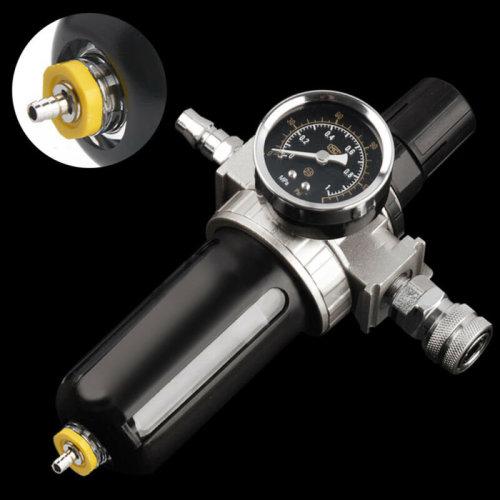 Air Compressor Moisture Oil Trap Filter Regulator Separator & Mount Connection