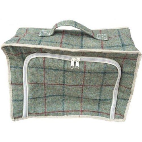 Green Tweed Cooler Picnic Bag