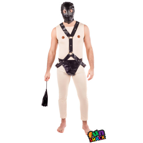 Mens Nude Gimp Fancy Dress Costume