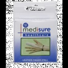 Extra Large Medisure Leather Finger Stall -  leather finger stall soft dressing protector non sweating medisure cover bandage extra large