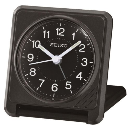Seiko QHT015K Travel Alarm Clock - Black