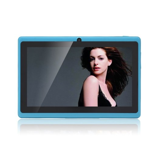 JINYJIA 7 Inch Android Google Tablet PC 4.2.2 8GB WiFi Dual Core Dual Camera Capacitive Touch Screen Allwinner A23 DDR3 1.5GHz 512MB Azure Sky Blue...