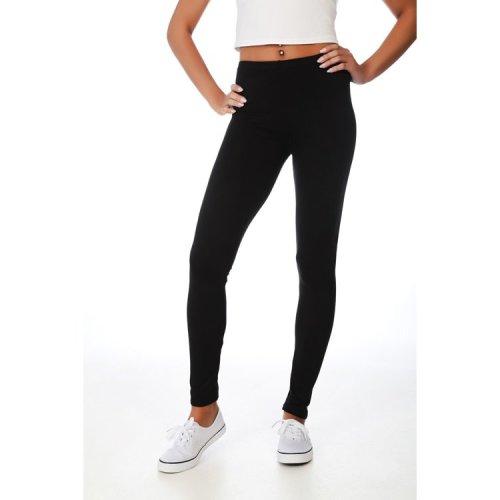PrettyFashion.com Plain Leggings   Women's Stretch Colored Leggings   Tall Long Full Length Ladies Leggings   High Waisted Active Gym Sports Yoga Girls Leggings   Plus Size UK 8-22