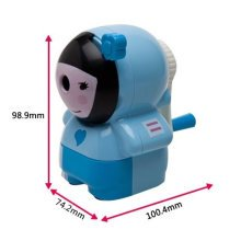 Lovely Girl Manual Pencil Sharpener for Office and Classroom (Blue)