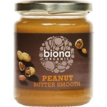 Biona Organic Peanut Butter Smooth 250g - No Salt