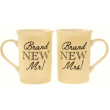 Brand New Mr & Mrs 2 Mug Boxed Set Wedding Marriage Gift Cup Couple Fine China