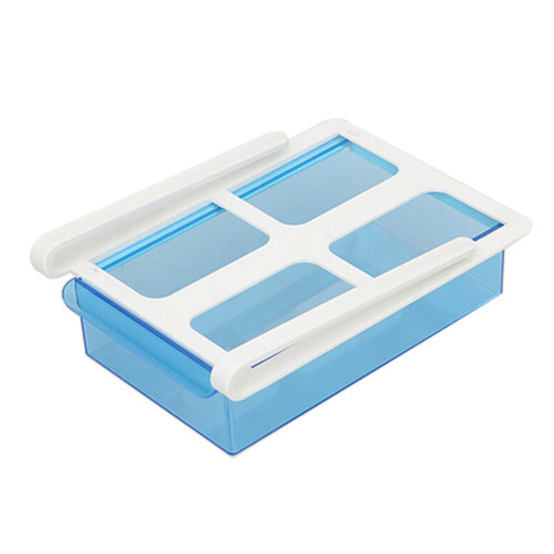 Refrigerator Drawer Style Storage Eggs Boxes Small Things Organizer Blue