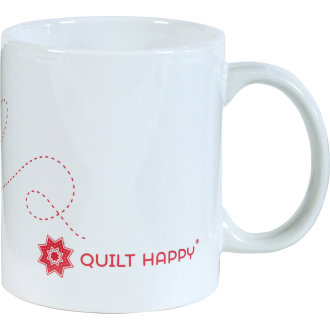 Quilt Happy Never Tell Mug 11oz-White