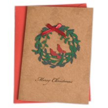 Christmas Cards Greeting Cards Christmas Gift Beauitful Xmas Cards (4 Cards and Envelopes), Brown #3