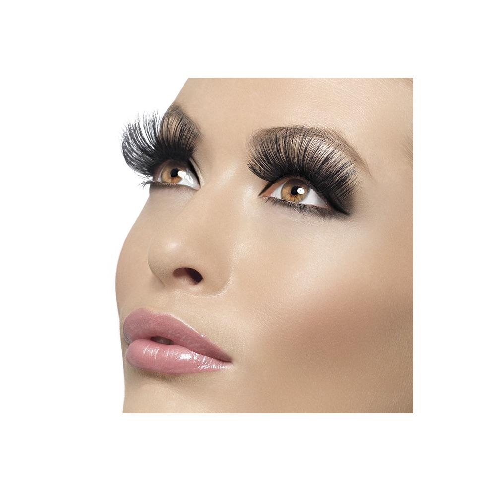 8ba413b6d65 Long 60's Black Fake Eyelashes - eyelashes black long fancy dress 60s style  false ladies make up 1960s accessory fake fever on OnBuy