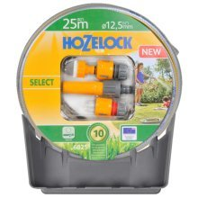 Hozelock Select Hose Starter Set 25 m with Hose Hanger 6025P1240