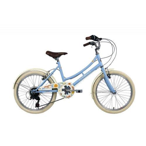"""Elswick Girls Kids Cherish 20"""" Wheel Heritage Bike Bicycle Baby Blue 6 Speed"""