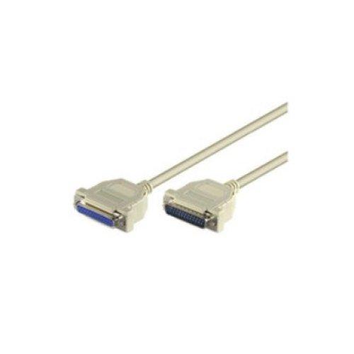Microconnect DB25-DB25 5m 5m DB25 DB25 White serial cable
