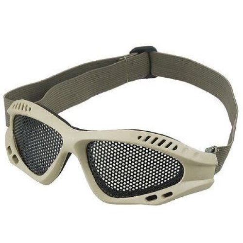 Airsoft Metal Mesh Goggles Paintball Tan Sand Uk Del