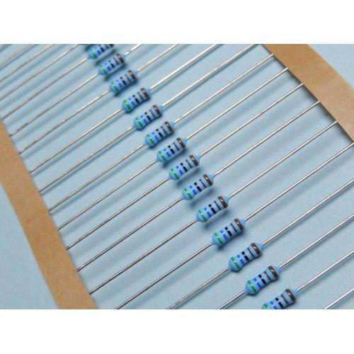 0.6 Watt Metal Film Resistors MRS25 5.6K OHM PACK of 100