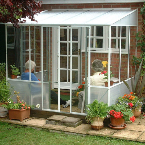 DIY Steel PVC Garden Room Summer House Lean To