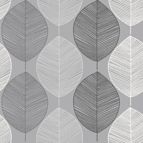 Arthouse Scandi Leaf Luxury Contemporary Pastel Abstract Leaf Glitter Geometric Wallpaper 698400
