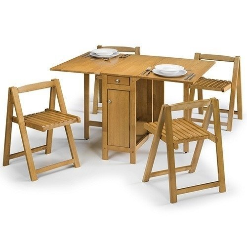 Cranny Folding Space Saver Dining Kitchen Table Set