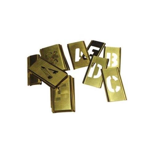 C.H. Hanson 10325 Brass Stencil Letter Kit  33 Piece