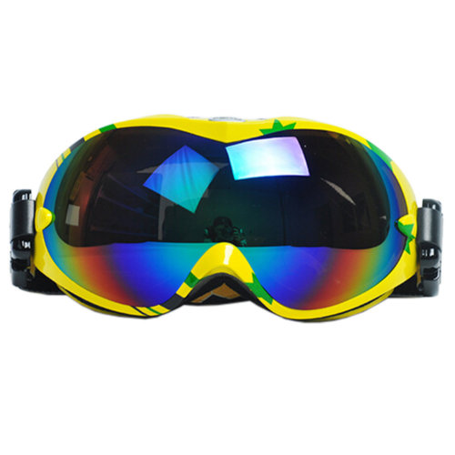 Professional Spherical Lenses Snowboard Ski Goggles Anti-fog Eyewear Yellow