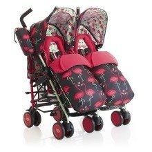 Cosatto Supa Dupa Twin Stroller Flamingo Fling