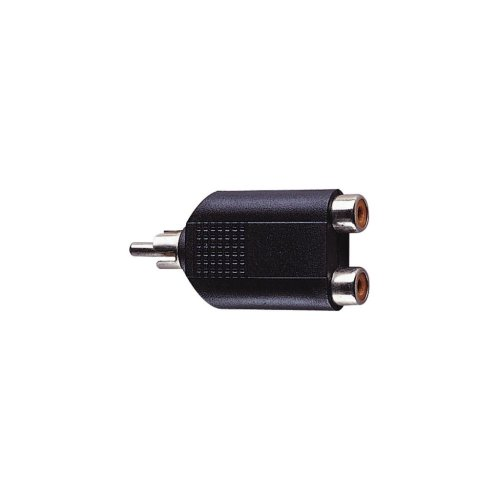 Phono Plug to 2x Phono Sockets Adaptor