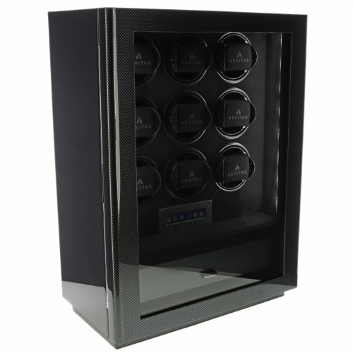 9 Watch Winder Carbon Fibre Finish Classic Collection by Aevitas