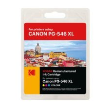 Kodak Remanufactured Canon PG-546 XL Colour Inkjet Ink, Cyan, Magenta, Yellow 16.5ml