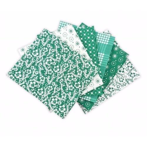 Fat Quarter Bundle - 100% Cotton - Oxford Green - Pack of 6