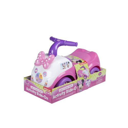 Pink Ride-On Minnie Mouse Light & Sound Kids Activity Made From Plastic