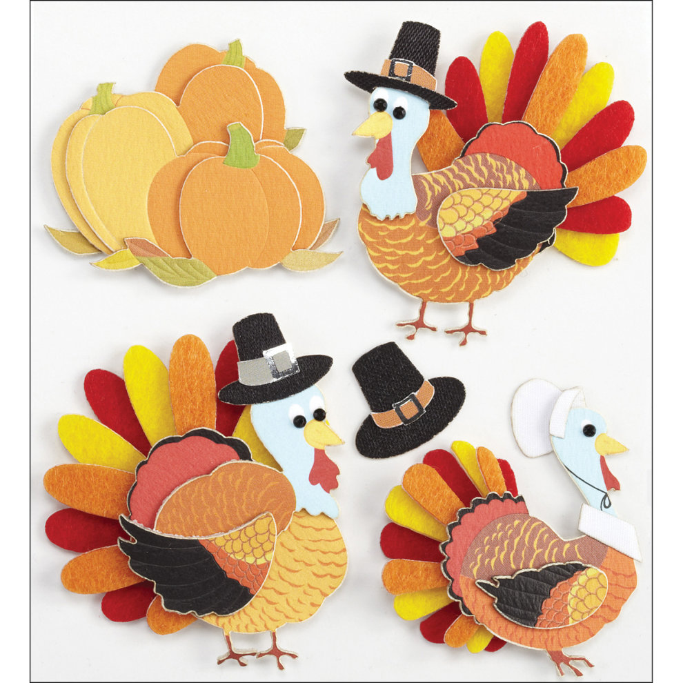 Jolee's Boutique Stickers Funny Pumpkins