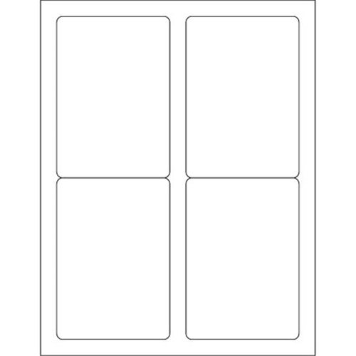 Box Partners LL119 3.5 x 5 in. White Rectangle Laser Labels - Pack of 400