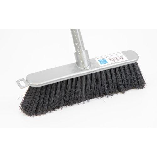 Silver Indoor Soft Sweeping Brush Head and Handle Kitchen Broom Floor Sweeper