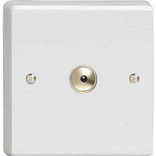 XDQT1S by Varilight Varilight 1G 1 or 2W 10A Classic Toggle Switch Dimension Screwless Premium White