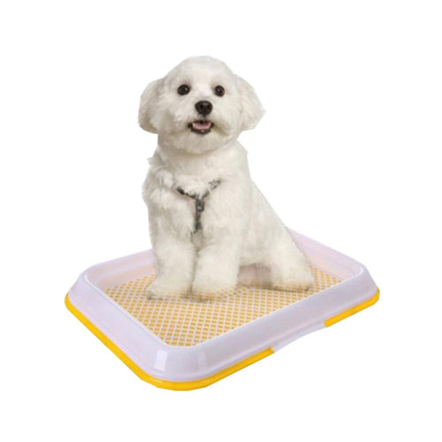 Dog Toilet Puppy Dog Pet Potty Patch Training Pad Pet Supplies 47 X 34 CM Yellow