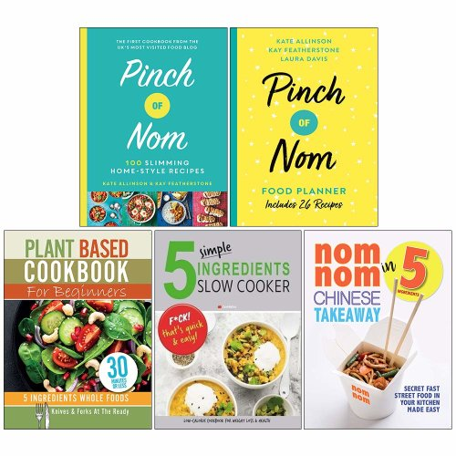 Pinch of Nom Food Planner,Pinch of Nom,Plant Based 5 Books Collection Set