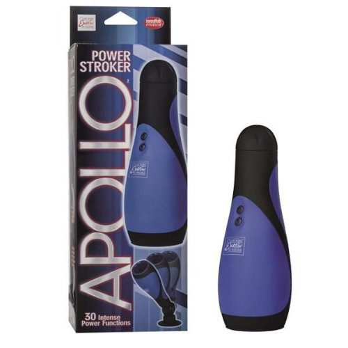 Apollo Power Cock Stroker Vibrating Multi Speed Deep Throat Masturbator Blue