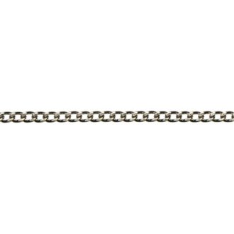 Cousin 479864 Jewelry Basics Metal Chain 1-Pkg-Small Flat-Silver 46 in.