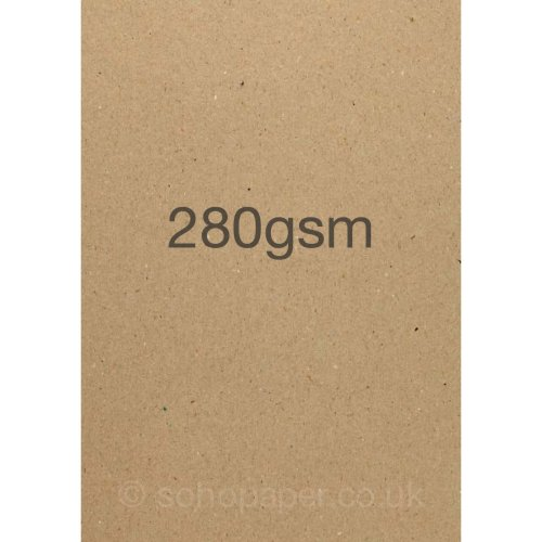 Kraft Card and Paper Recycled - 50 sheets -A4 soho paper products (280gsm)