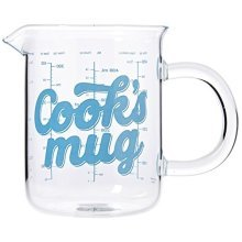 Thumbs Up Cooks Mug, Transparent -  cooks mug glass 500ml measuring jug thumbs up cup beaker kitchen cooking gift