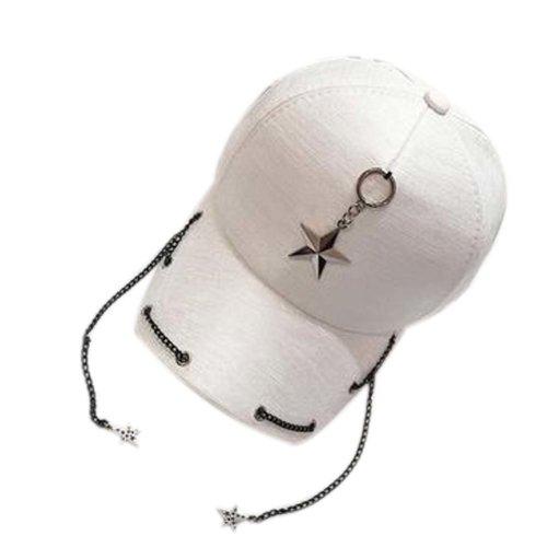 Fashionable Cap Gifts Girl's Hat Baseball Hat Summer Sun Cap Hip-Pop Hat White