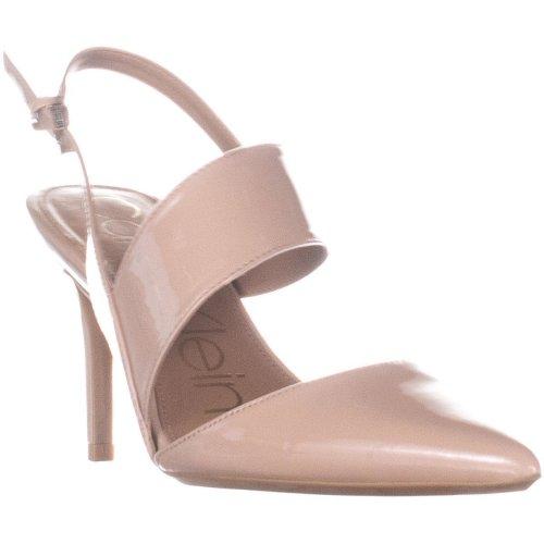 Calvin Klein Gianna Slingback Heeled Sandals, Desert Sand, 5 UK