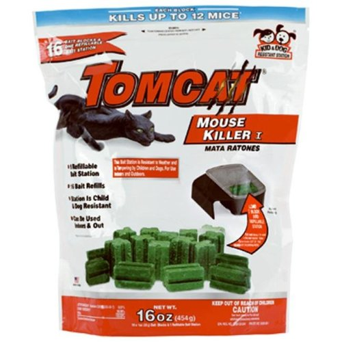 Tomcat 22486 oz. Refillable Mouse Killer Station, Pack - 16