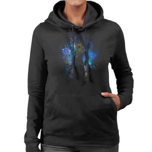 Goblin King Silhouette Labyrinth Women's Hooded Sweatshirt