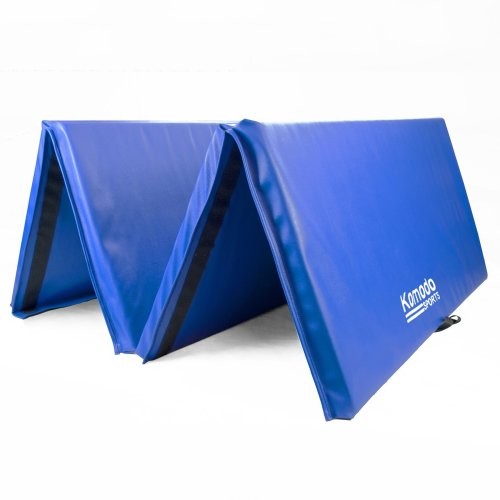Large 4-Fold 8ft Gym Mat - Blue