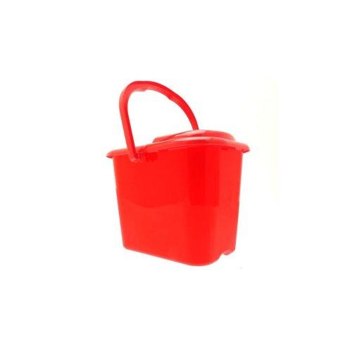 Light Duty Plastic Mop Bucket - Red - 9 Litre